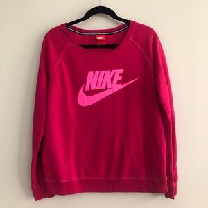 Nike Hot Pink & Magenta Scoop Neck Sweatshirt